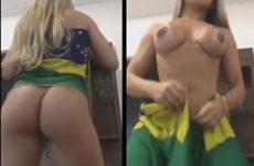 Brasileira estilo panicat pelada
